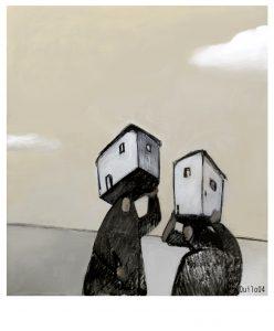 Mujeres migrantes. Ilustración de Quilo
